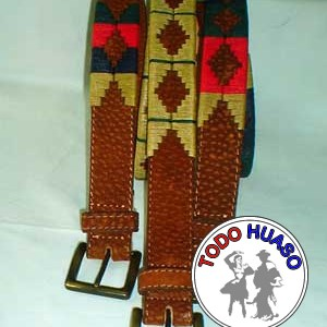 Cinturón de Carpincho Bordado en Hilo