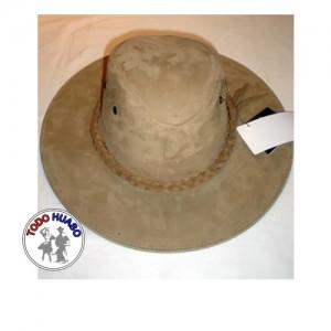 Sombrero de Cuero Nobuk dif. tonos.